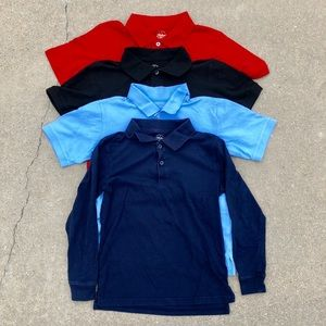 Lot of 4 Faded Glory Boys Polo Shirts Size 8